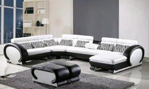 Sofa moderno en blanco y negro