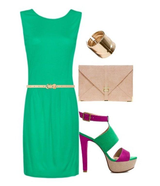 Calzado para vestido verde agua