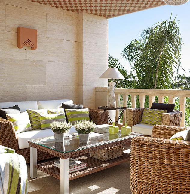 Terrazas con muebles de mimbre - Ideas para decorar una terraza ...