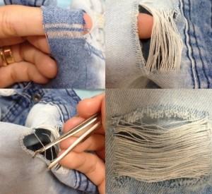 como rasgar jeans passo a passo diy customize