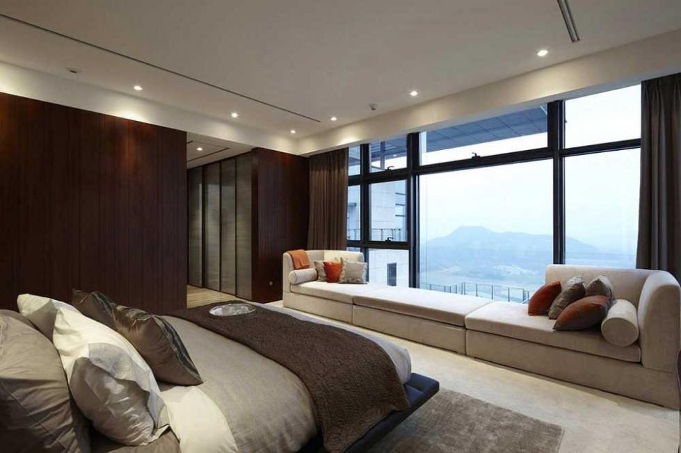 dormitorio con vista