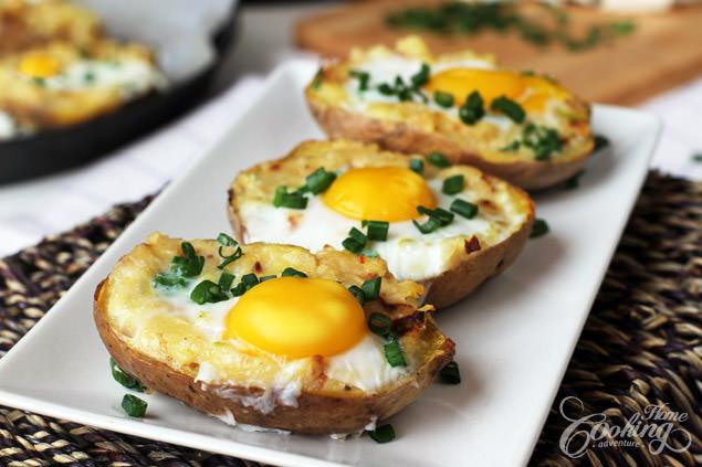 huevos sobre patatas