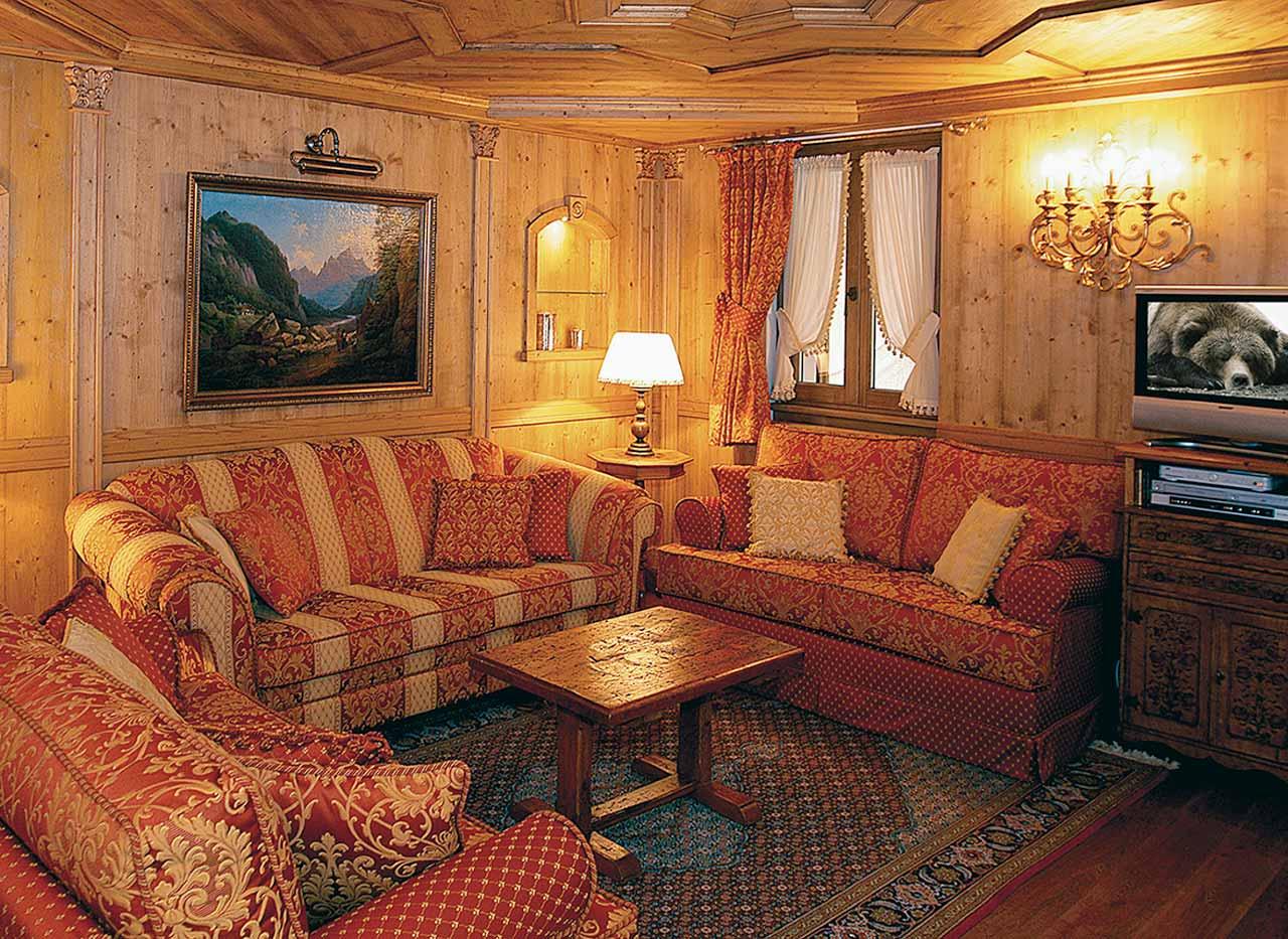 salon rustico clasico