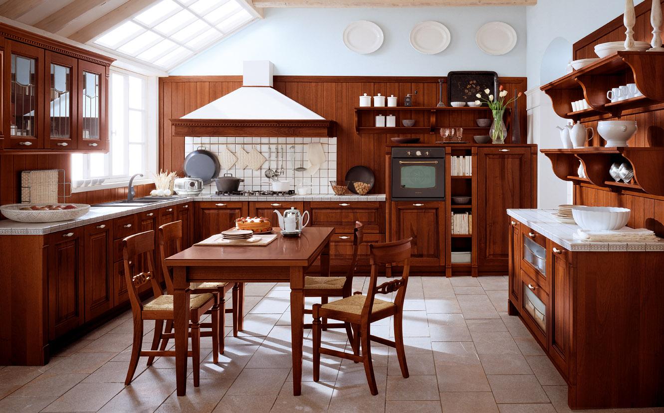 cocina clasica marron