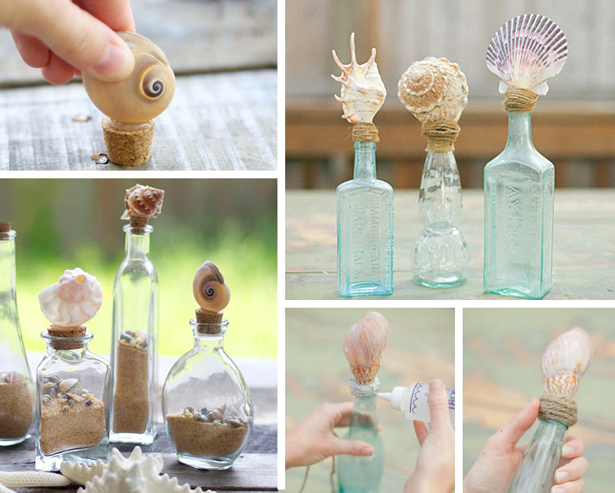 Decorazioni-fai-da-te-con-conchiglie-Tappi-per-bottiglie