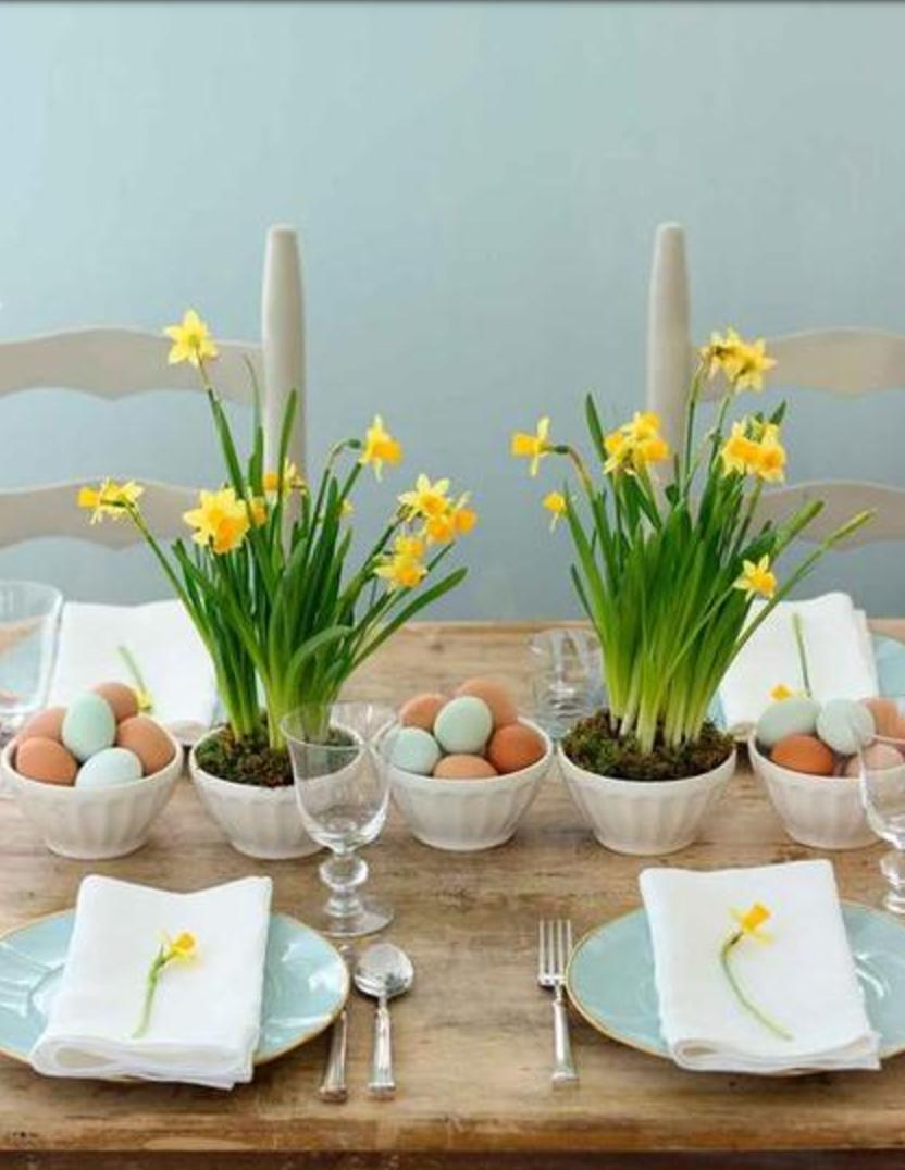 17 bonitas ideas para centros y mesas de pascua for Mesas de centro bonitas